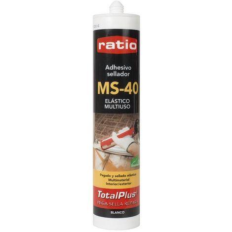Adhesivo Sellador Polímero Ms-40 Blanco Multiusos 290 Ml Ratio