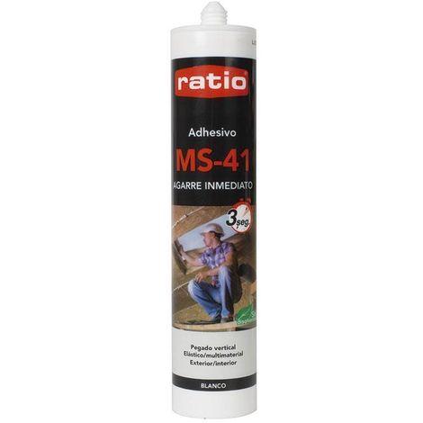 Adhesivo Sellador Polímero Ms-41 Inmediato Blanco 290Ml Ratio