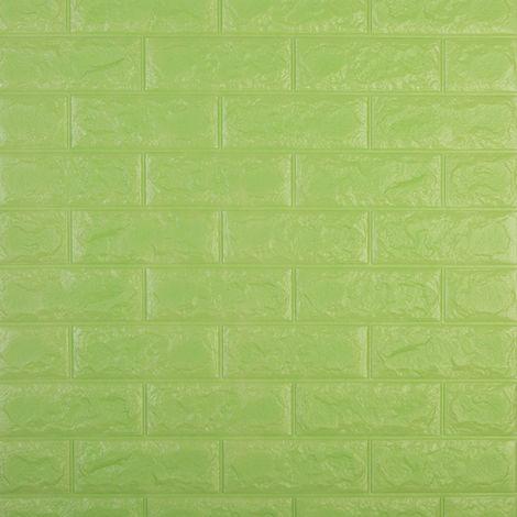 Adhesivos de pared tridimensionales, papel pintado de ladrillo, 5#, Verde