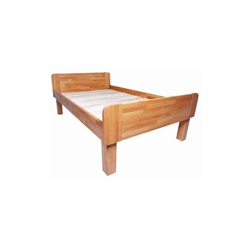 ADINA Einzelbett mit Komforthöhe massive Buche Massivholzbett 120x200cm - ACERTO®