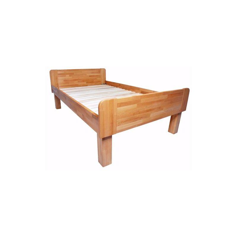 ADINA Einzelbett mit Komforthöhe aus massiver Buche 140x200cm - ACERTO®