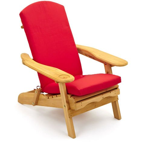 Adirondack Garden Patio Arm Chair  + retractable Leg Rest & Cushion