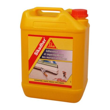 Aditivo adhesivo e impermeabilizante para morteros - SIKA Sikadher - Blanco - 2L