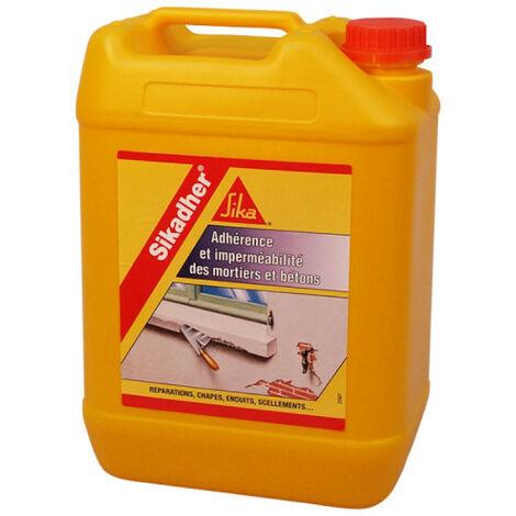 Aditivo adhesivo e impermeabilizante para morteros - SIKA Sikadher - Blanco - 5L