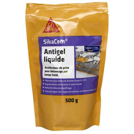 Aditivo para hormigón para clima frío SIKA SikaCem Liquid Antifreeze - 500g - Jaune