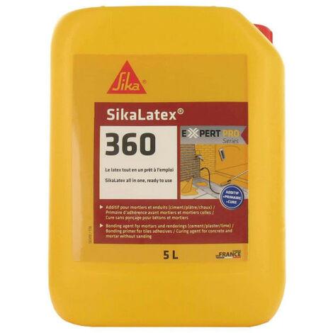 Aditivo para morteros y hormigones listo para usar - SIKA SikaLatex 360 - Blanco - 5L