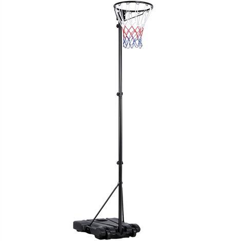 Adjustable 1.71-3.05m Portable Basketball Hoop and Freestanding Netball Post for Kids & Adults