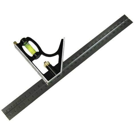 """ADJUSTABLE 300mm (12"""") ENGINEERS COMBINATION TRY SQUARE SET RIGHT ANGLE (09253)"""