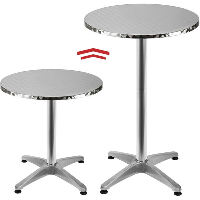 Merveilleux Adjustable Bar Bistro Round Table Aluminium Side Table Dining Table 65    115 Cm   100591