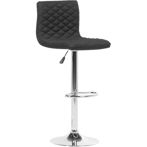 Adjustable Bar Stool Black ORLANDO