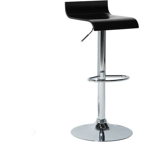 Adjustable Bar Stool Black VALENCIA