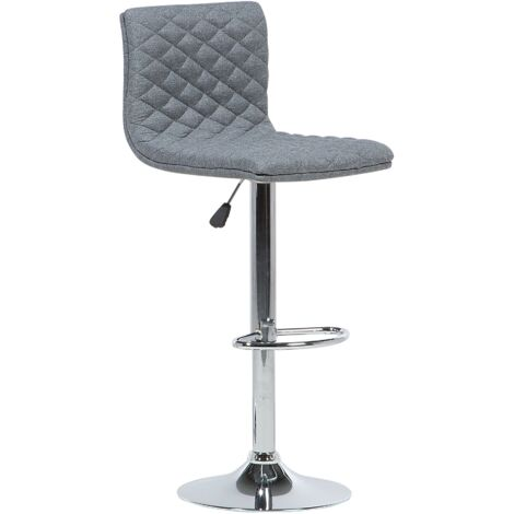 Adjustable Bar Stool Grey ORLANDO