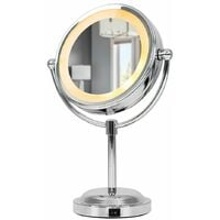Adjustable Battery Operated Chrome LED Bathroom Cosmetic Shaving Vanity Mirror Light