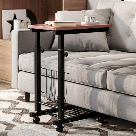 Adjustable Computer Desk with Wheels & Shelves for Office Home PC Laptop Study