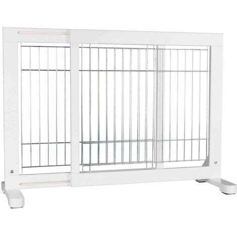 Adjustable dog gate Size: 65-108 × 61 cm
