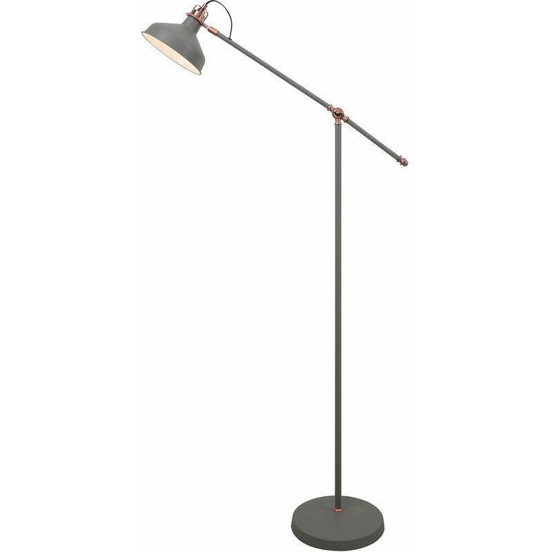 Image of 13-luminaire Center - Adjustable floor lamp Acid 1 Bulb Sand gray 41 Cm