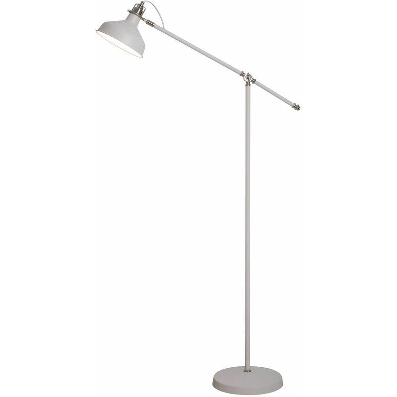 Image of 13-luminaire Center - Adjustable Floor Lamp Acid 1 Bulb Sanded White 41 Cm