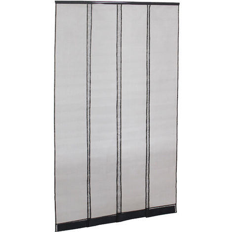 Adjustable fly screen door curtain