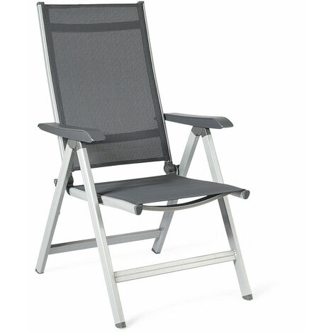 Adjustable Folding Chair Outdoor Patio Garden Chair Aluminum Chair Teslin Indoor