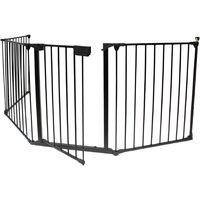 Adjustable Gate for Fireplace, Safety Gate, 300 x 75 cm (118.1 x 29.5 inch) unfolded, Folded size: 80 x 68 x 14 cm
