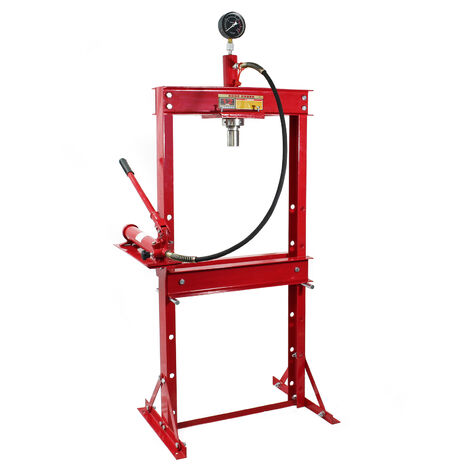 Adjustable Heavy Duty Hydraulic Workshop Press with 12 Tonnes Press Capability and Manometer