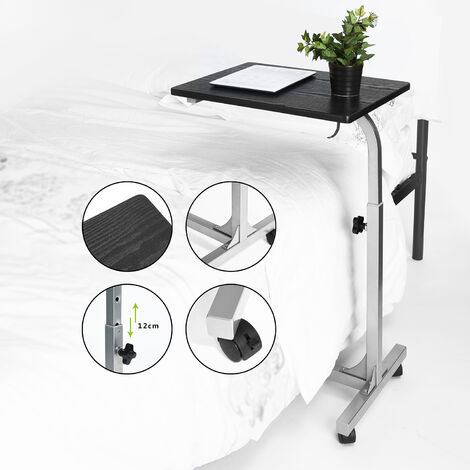 Adjustable Height Laptop Desk Sofa Table Portable Bed Desk PC Stand Lapdesks, Black