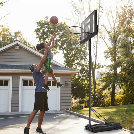 """main image of """"Adjustable Height Portable Basketball Stand Hoop Net Backboard System w/ Wheels"""""""