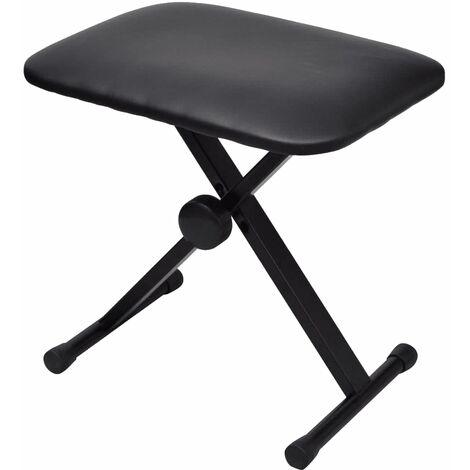 "main image of ""Adjustable Keyboard & Piano Stool Foldable - Black"""