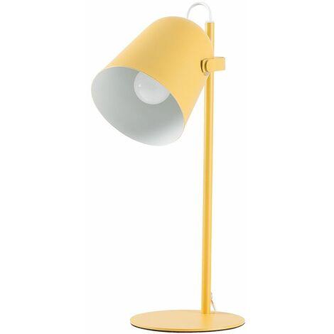 Adjustable Office Desk Lamp + LED Bulb - Mustard - Yellow