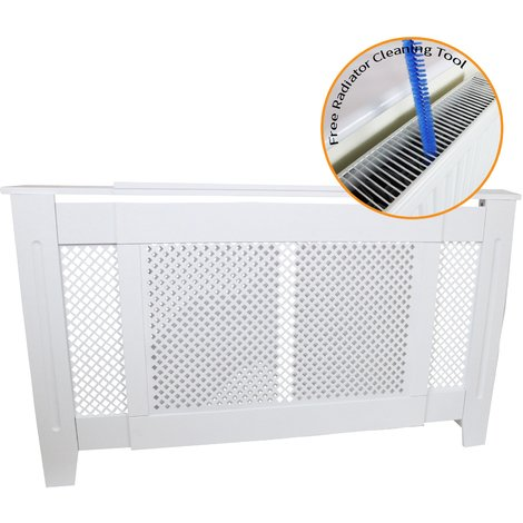 Adjustable Radiator Cover MDF White 1400mm - 1920mm