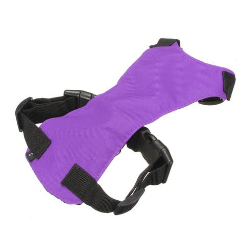Adjustable Restraint and Foot Car Seat Safety Harness Dog Safety Belt Puppy Purple L