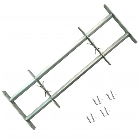 Adjustable Security Grille for Windows with 2 Crossbars 500-650 mm
