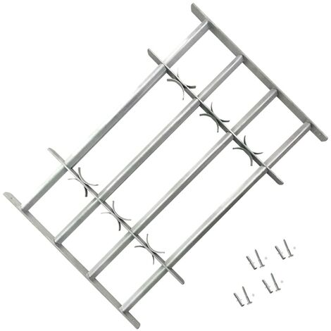 Adjustable Security Grille for Windows with 4 Crossbars 500-650 mm