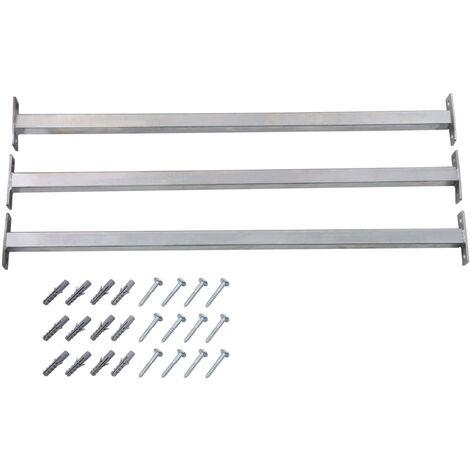 Adjustable Security Window Bars 3 pcs 710-1200 mm