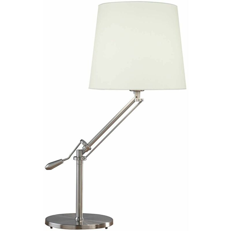 Image of 1-light satin chrome infusion table lamp