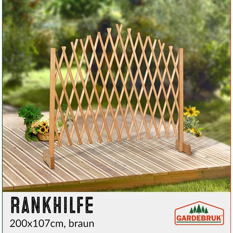 Adjustable Trellis Brown - Growing Aid 200 x 107 cm Brown