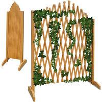 Adjustable Trellis Plant Support Growing Aid Wood 180 x 107 cm