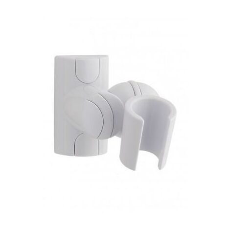 Adjustable Wall Fixing Shower Head Bracket Shower Handset Bracket White HJS