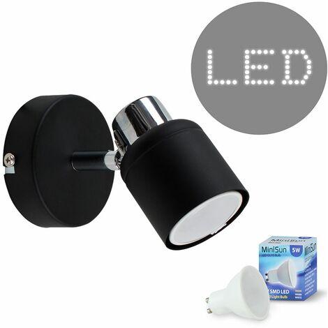 Adjustable Wall Spotlight + GU10 LED Bulb