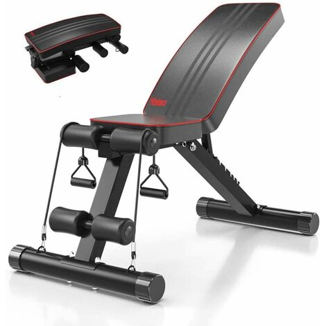 Adjustable Weight Bench Home Training Gym Weight Lifting Sit Up Ab Bench Flat Incline Multiuse Exercise