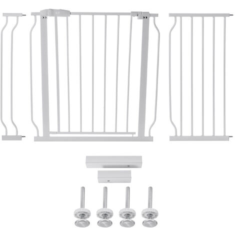 Adjustable Wide Baby Kids Pet Safety Security Gate Stair Barrier Door 76*71cm White