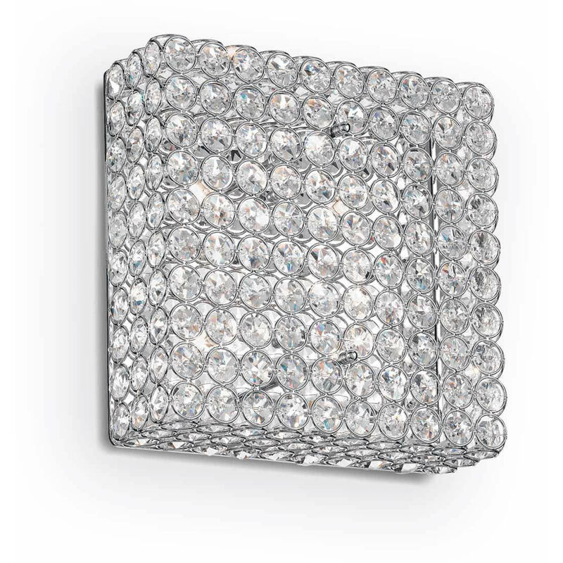 01-ideal Lux - ADMIRAL Chrom Kristall Deckenleuchte 4 Lampen