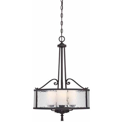 Adonis pendant light, glass, 3 bulbs