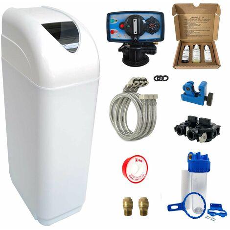 Adoucisseur d'eau 14L Fleck 5600 MC complet avec accessoires