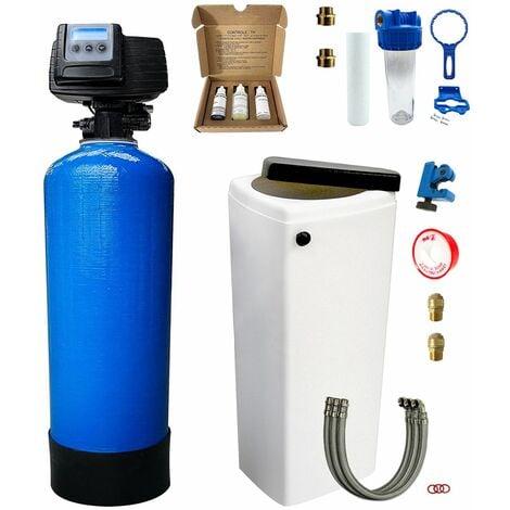 Adoucisseur d'eau bi bloc 20L Fleck 5600 SXT complet avec accessoires
