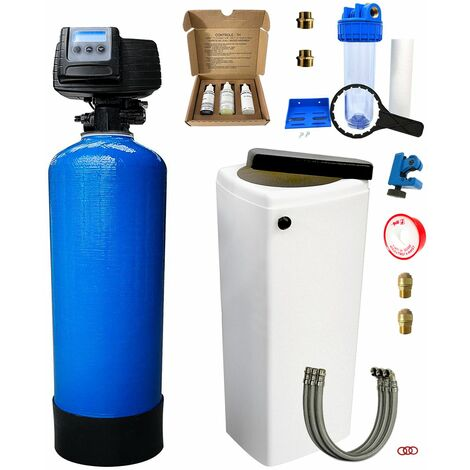 Adoucisseur d'eau bi bloc 30L Fleck 5600 SXT complet avec accessoires