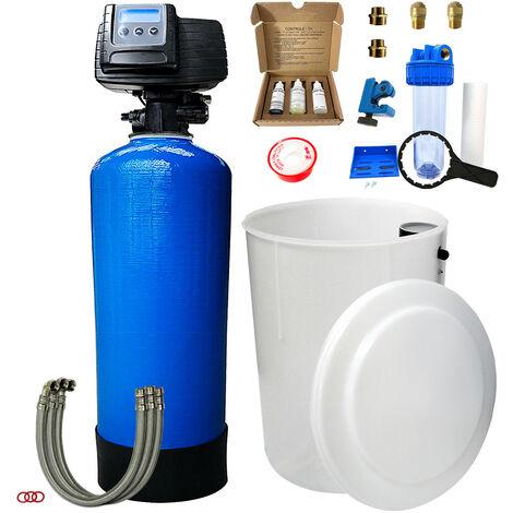 Adoucisseur d'eau bi bloc 50L Fleck 5600 SXT complet avec accessoires
