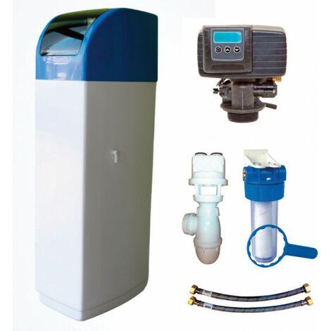 Adoucisseur d'eau PENTAIR 30 L vanne Fleck 5600 SXT 30 L complet avec Kit d'installation