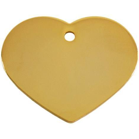 Adressanhänger mit Gravur - Herz groß - Gold
