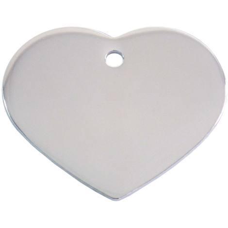 Adressanhänger mit Gravur - Herz groß - Silber